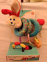 Игрушка-подвеска заяц спираль