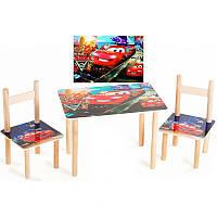 Детский набор стол и 2 стульчика Тачки, Финекс Плюс