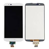 Дисплей (LCD) LG K410 K10/ K420N/ K430DS/ K430DSF/ K430DSYl с сенсором белый оригинал