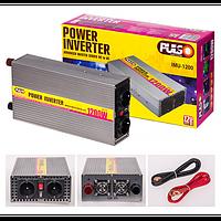 Преобразователь напряжения 12V-220V/1200W/ USB-5VDC0.5A/клеммы Pulso IMU-1200