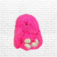 Детская мягкая игрушка,зайка,пушистый брелок,розовый