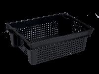 Ящики пластиковые перфорированные 600 x 400 x 200 черный