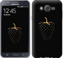 "Чехол на Samsung Galaxy J7 J700H Черная клубника ""3585c-101-481"""