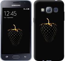 "Чехол на Samsung Galaxy J1 (2016) Duos J120H Черная клубника ""3585c-262-481"""