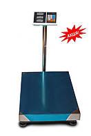 Весы торговые, напольные до 1000 кг платформа 80х130 см, электронные торговые весы, Кристал