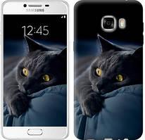 """Чехол на Samsung Galaxy C7 C7000 Дымчатый кот """"825u-302-481"""""""