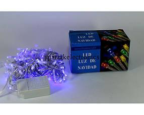 Новогодняя светодиодная гирлянда LED 100 B-1 синий цвет (100 светодиодов)