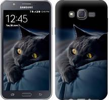"Чехол на Samsung Galaxy J7 J700H Дымчатый кот ""825c-101-481"""
