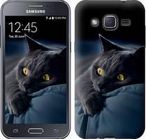 "Чехол на Samsung Galaxy J2 J200H Дымчатый кот ""825c-190-481"""