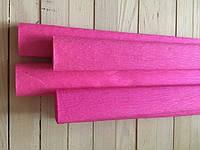 Креп бумага 50*200 см, креп  Польша, цвет ярко розовый