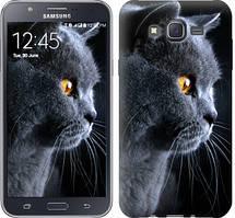 """Чехол на Samsung Galaxy J7 J700H Красивый кот """"3038c-101-481"""""""