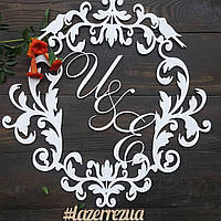 Свадебная монограмма деревянная