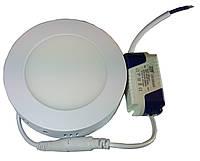 Светильник накладной круглый LED-PANEL- 6 120mm aluminium 420Lm 4100K IP20 , фото 1