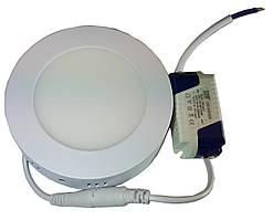 Світильник накладний круглий LED-PANEL - 6 120mm aluminium 420Lm 4100K IP20