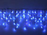 Гирлянда бахрома уличная 120 LED ROUND (синяя, разноцветная)
