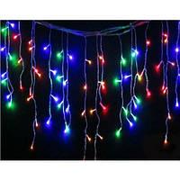 Электрическая гирлянда бахрома 200 LED ROUND разноцветная