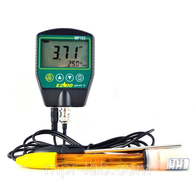РН-метр EZODO MP-103 (РН: 0.00-14.00; 0-100 °C; -1999 -1999 мВ) с выносным электродом PY41 и термодатчиком