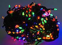 Гирлянда новогодняя многоцветная 500L ROCKETS LED LIGHT (лампочки в форме конуса)