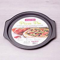 Форма для пиццы Kamille 6015 35*33.5*2.5 см из углеродистой стали