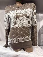 Женский свитер размер универсал олень оптом