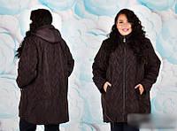 Куртка с капюшоном для крупных женщин, с 58 по 72 размер, фото 1