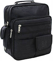 Мужская сумка Bagland 23870 черная Комерсант через плечо папка портфель А4 35х29х15см жатка