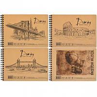 Альбом для рисования А5 «KRAFT» 30 листов, 96 г/м², спираль AB5130