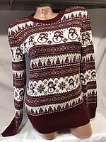 Женский свитер размер универсал снеговик оптом