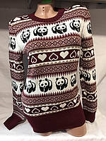 Женский свитер размер универсал панда оптом
