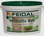 Матовая латексная краска Innenlatex Matt Feidal 10л