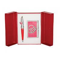 Ручки-набор Langres ш+визитница,красный,женский 26753404
