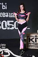 Спортивные лосины Totalfit S32 XS Малиновый, черный, розовый, серый