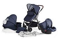 Детская коляска KinderKraft MOOV 3 в 1 синяя