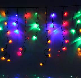 гирлянда БАХРОМА 3Х0.5М КАУЧУКОВЫЙ КАБЕЛЬ С МЕРЦАНИЕМ желтый, красный, зеленый, синий,RGB Multi