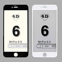 Защитное стекло на iPhone 6 Plus/ iphone 6s +, 4D Rinco 0.33 Черное