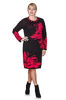 Вязаное платье размер плюс Orhideya  черный/красный (46-56)