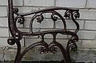 Опора лавки садово-парковой чугунная с подлокотником № 12, фото 4