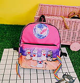 Прикольний рюкзак Співаючі коти з сумочкою