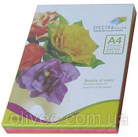 """Бумага офисная цветная """"Spectra Color Cyber Rainbow Pack"""" 250 л. (5х50) А4, 75 г/м2"""