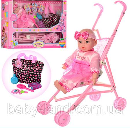 Кукла-пупс с коляской и аксессуарами 60665-T03