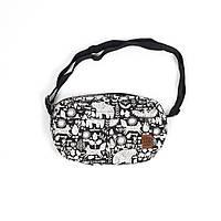 Сумка через плечо мессенджер Cozy Mishka Black Red and Dog (сумка жіноча, сумка чоловіча, сумка, сумки)