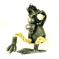 Фигурка керамическая ручной работы Ворона певица
