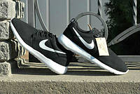 Кроссовки Nike Roche Run\Найк Роше Ран, черные, с белой подошвой, КТ11000
