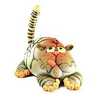 Фигурка подставка для колец керамическая ручной работы Кот