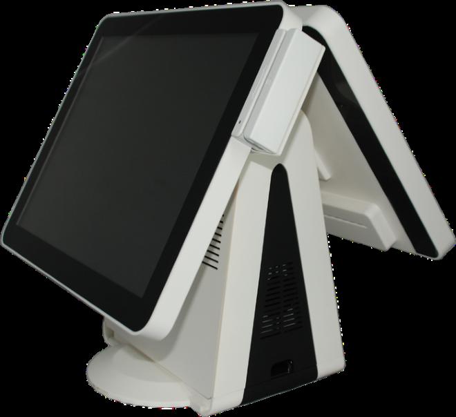 Сенсорный моноблок SPARK-ТТ-2215(с вторым дисплеем) в комплекте со считывателем магнитных карт SPARK