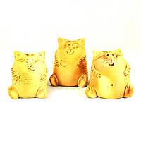 Фигурки керамические ручной работы Коты 3шт