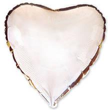 1204-0128 Шар серебренное сердце 80 см