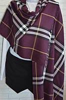 Палантин шарф женский Вurberry (Барбери) марсала