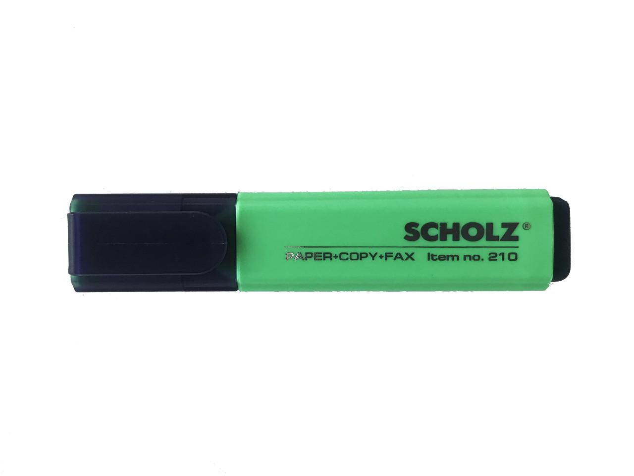 Текстовыделитель Scholz зеленый