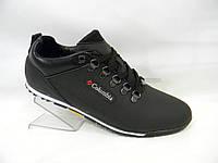 Мужские  кроссовки  Columbia коламбия кожаные   черные 40, 41, 42, 43, 44, 45